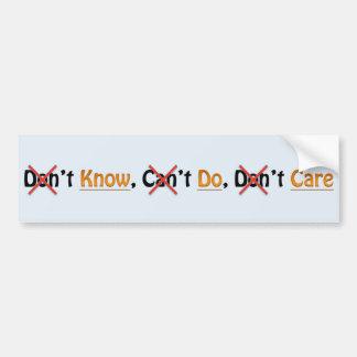 Simple Instructions Bumper Sticker