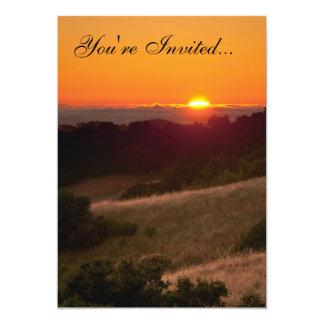 Simple invitation with beautiful California sunset