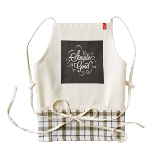 Simple is good motivational life quote zazzle HEART apron