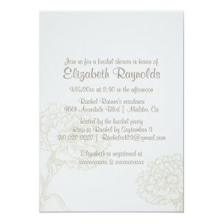 Simple Ivory Bridal Shower Invitations Personalized Invitations