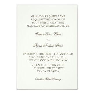 Simple Ivory Wedding Invitation