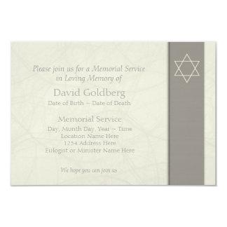 Simple Jewish Celebration of Life Invitation 1 -