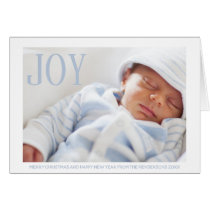 Simple Joy Baby Photo First Christmas Card
