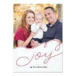 Simple Joy Holiday Photo Card Custom Invite