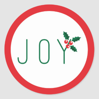 Simple Joy Holiday Sticker