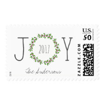 Simple Joy Wreath Christmas Holiday Postage