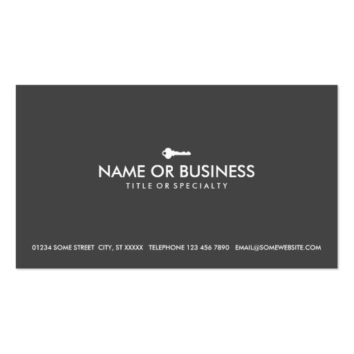 simple key business card templates
