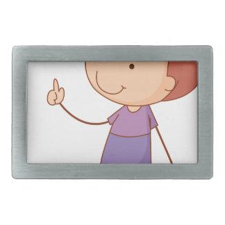 Simple kid rectangular belt buckle
