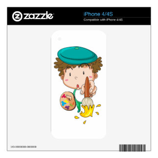 Simple kid decals for iPhone 4