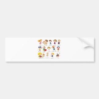 Simple kids car bumper sticker