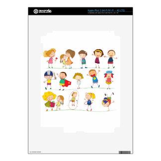 Simple kids iPad 3 decals