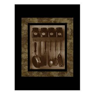 Simple Kitchen Cookin' -  Postcard