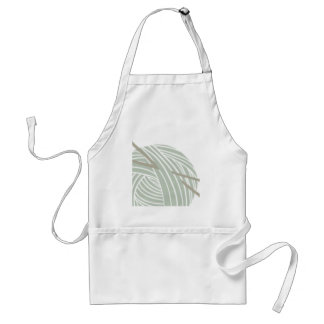 SImple Knitting Ball of Yarn Adult Apron