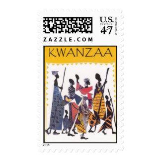 Simple Kwanzaa stamp