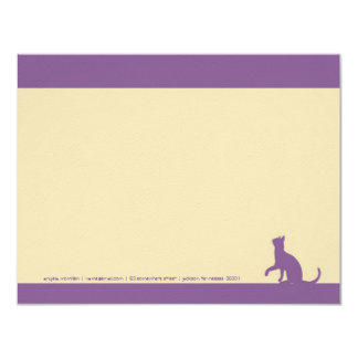 Simple Lavender Cat Silhouette Note Cards