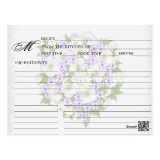 Simple Lavender Flower Bouquet Recipe Cards