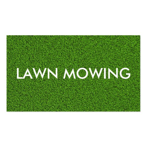 Simple lawn mowing business cards zazzle for Mowing business cards