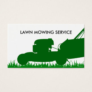 Simple Lawn Service Business Card