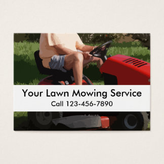 Simple Lawn Service Business Cards