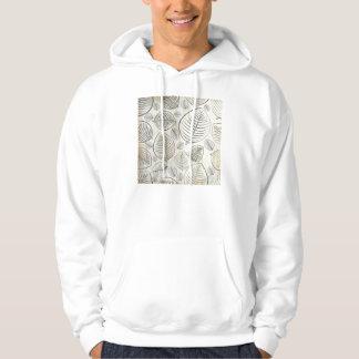 Simple Leaf Design Hooded Sweatshirts