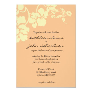 """Simple Leaves 5"""" X 7"""" Invitation Card"""