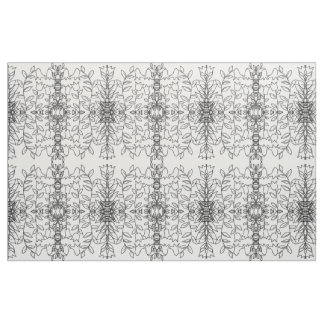 Simple Leaves one, Monochromatic Fabric Design,
