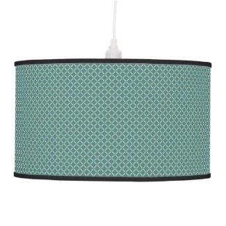 Simple leaves pattern in blue ceiling lamp