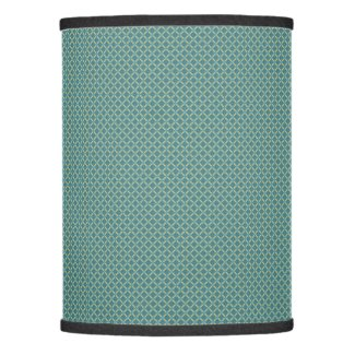 Simple leaves pattern in blue lamp shade