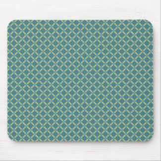 Simple leaves pattern in blue mouse pad
