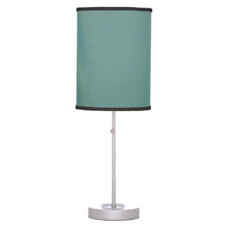 Simple leaves pattern in blue table lamp