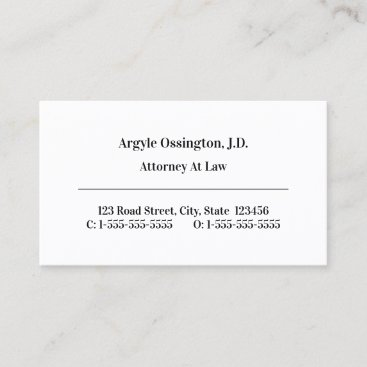 Simple, Legal Professional Business Card