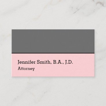 Simple Legal Professional Business Card