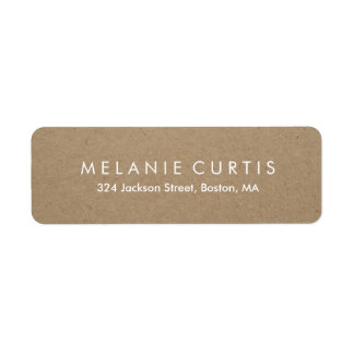 Simple Legible Kraft Effect Return Address Label
