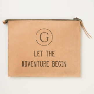 """Simple """"Let The Adventure Begin"""" with Monogram Travel Pouch"""