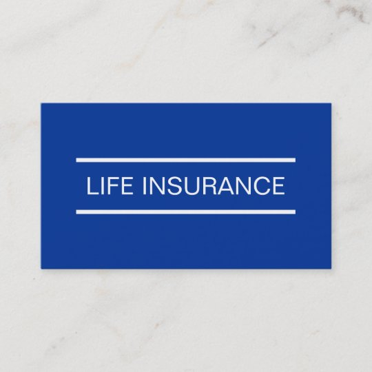 Simple life insurance business cards zazzle simple life insurance business cards colourmoves