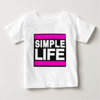 simple life pink.png baby T-Shirt