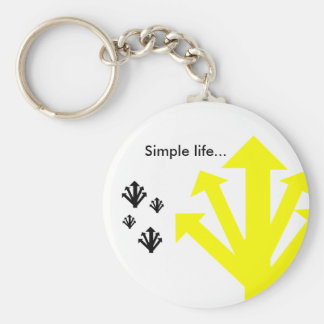 Simple Life… PORTA-CHAVES Basic Round Button Keychain