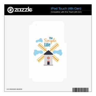 Simple Life Skins For iPod Touch 4G