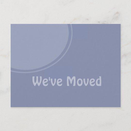 simple light blue weve moved announcement zazzle com