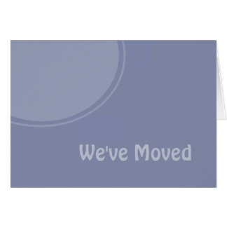 Simple light blue Weve Moved Announcement Greeting Card