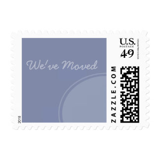 Simple light blue Weve Moved Announcement Postage Stamps