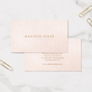 Blush Pink Business Cards Templates Zazzle