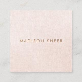 Simple, Light Blush Pink, Stylish Minimalistic Square Business Card