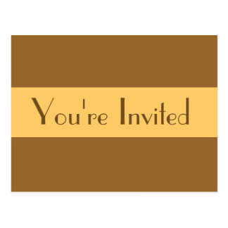 simple light brown Party Invitation Postcard