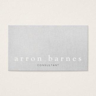 Simple Light Gray Modern Minimalist Designer Business Card