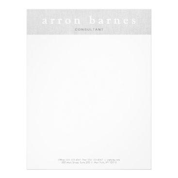 Simple Light Gray Modern Minimalist Designer Letterhead