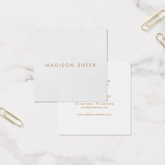 Simple light gray modern minimalist square business card simple light gray modern minimalist square business card reheart Choice Image