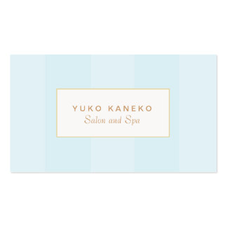 Simple Light Turquoise Blue Striped Elegant Double-Sided Standard Business Cards (Pack Of 100)