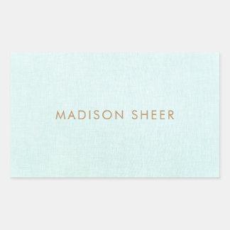 Simple, Light Turquoise Blue, Stylish Minimalist Rectangular Sticker