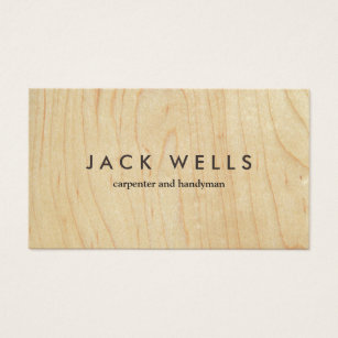 Carpenter business cards templates zazzle simple light wood grain carpenter and handyman business card fbccfo Choice Image